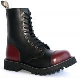 Glady - boty STEEL BORDO BLACK, 10 dírek (ES)