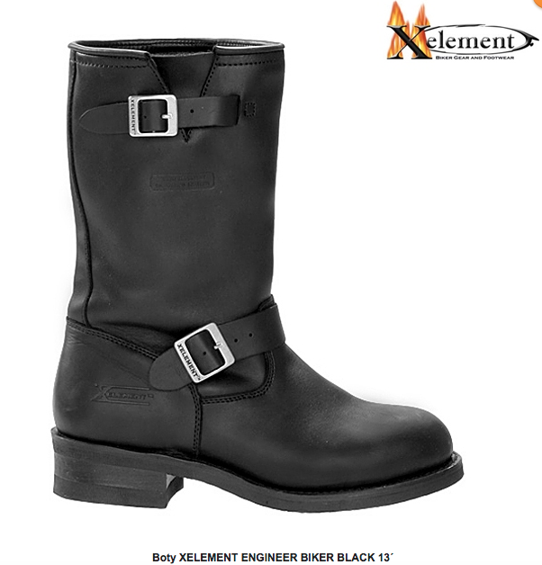 Boty XELEMENT ENGINEER BIKER BLACK 13´