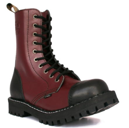Glady - boty STEEL BORDO BLACK 2, 10 dírek (ES)